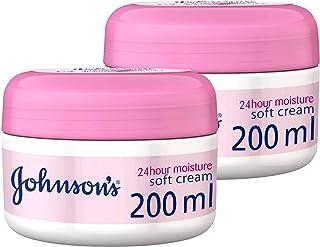 Johnson's Body Cream 24 Hours Moisture Soft, 2 X 200 ml - Pack of 1