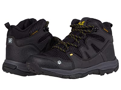 Jack Wolfskin Kids Mountain Attack 3 Texapore Mid (Toddler/Little Kid/Big Kid) (Black/Burly Yellow XT) Kids Shoes