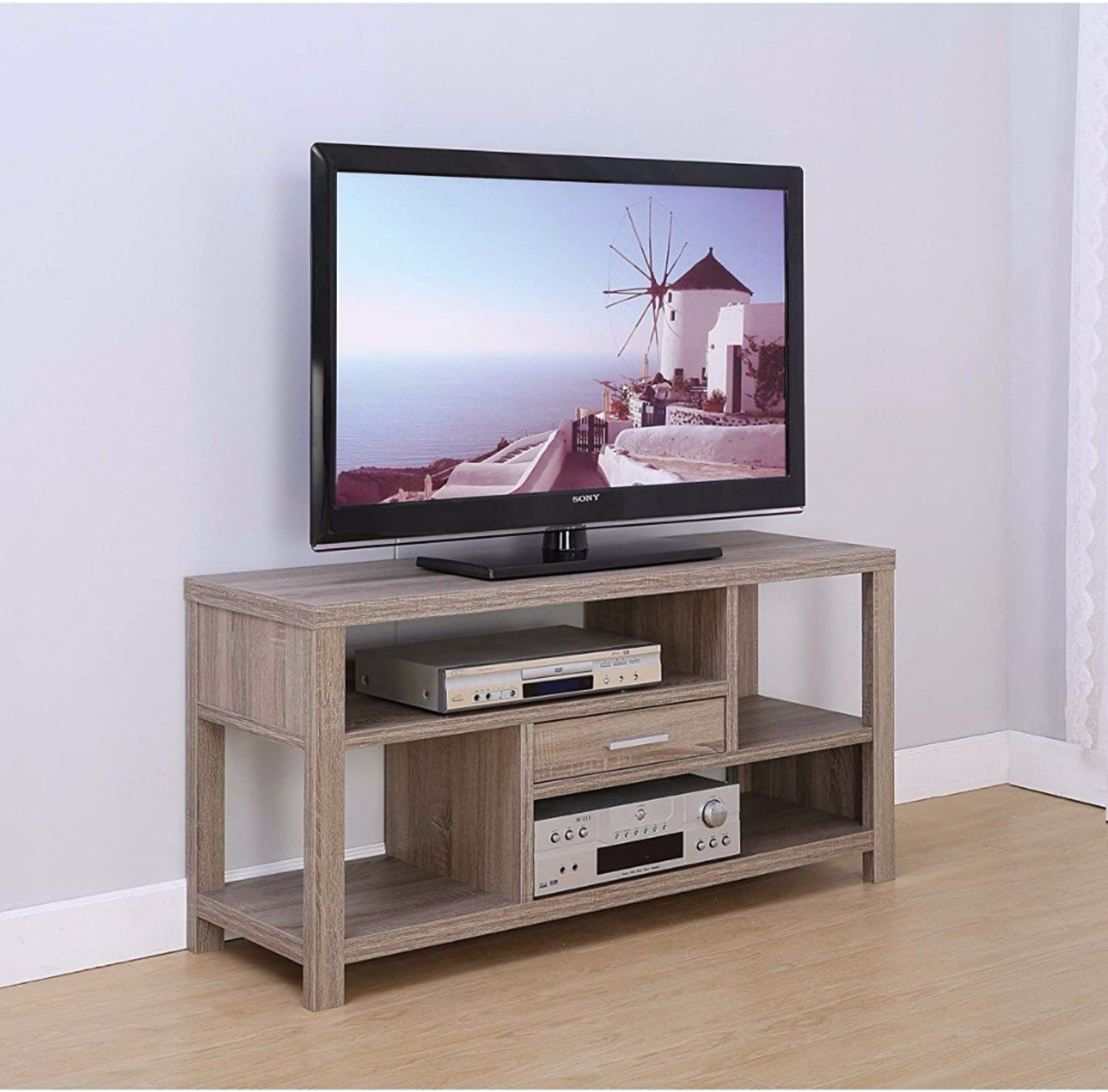 Benzara Imposing Spacious Drawer, Brown TV Stand