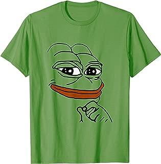 Smug Pepe - Gaming Stream Chat Pepo Emote Meme T-Shirt