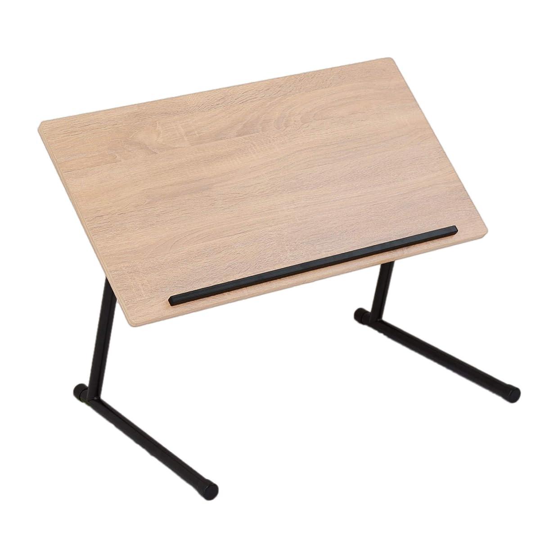 世辞サークルひもLITENStaD 折りたたみ 昇降式 角度調整 テーブル オーク×ブラック LSD-03-FLT-okbk