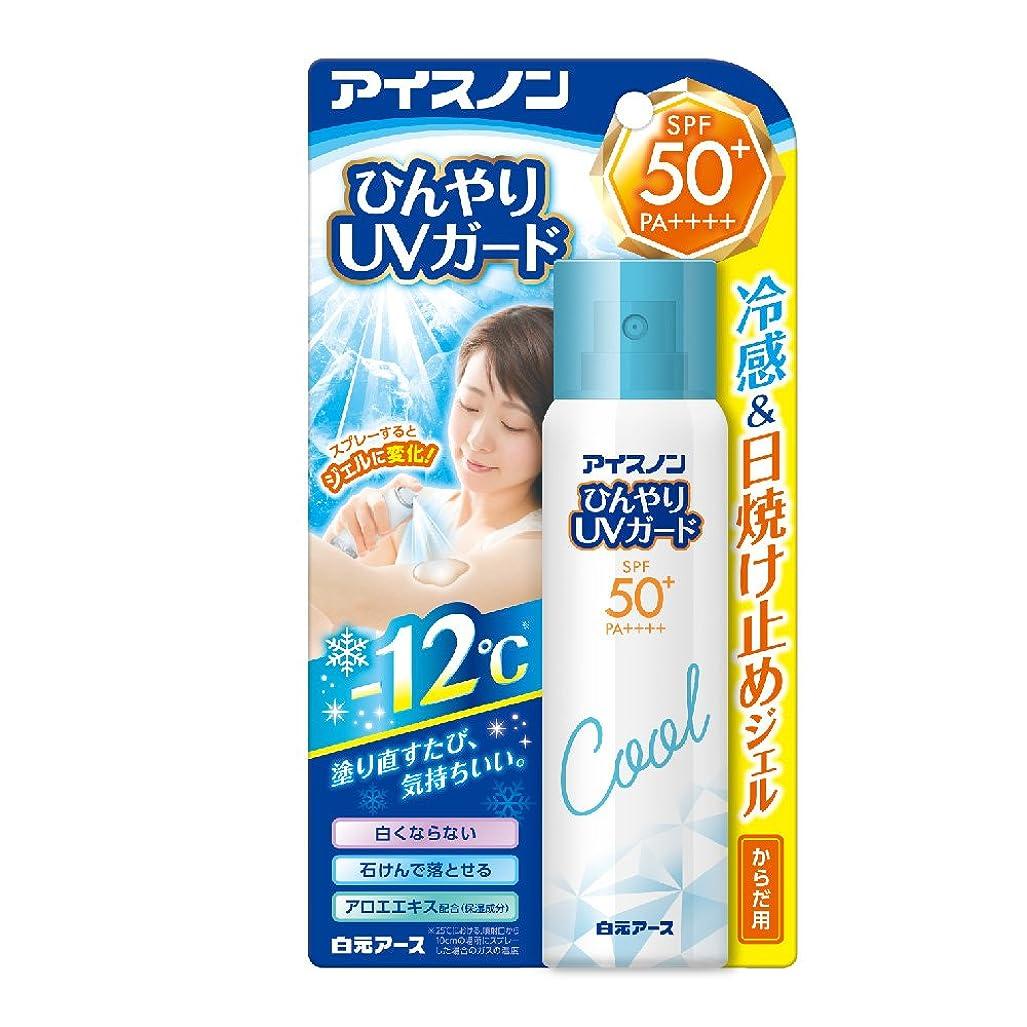 閉塞反発する凍結アイスノン ひんやりUVガード からだ用日やけ止め 60g
