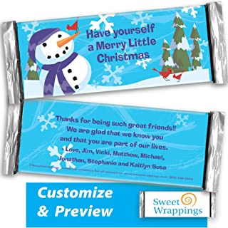 hershey bar snowman wrapper