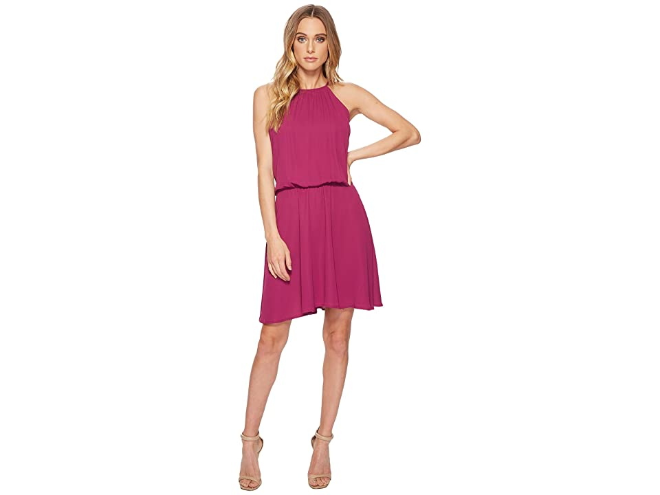 Roper 1621 Polyester Crepe Skater Dress (Wine) Women