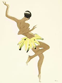 Art Painting Portrait Dancer Josephine Baker Black Pearl Creole Poster Print
