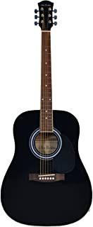 Glen Burton Dreadnought Accoustic Black Guitar