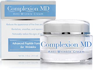 Complexion MD ADVANCED Anti-Aging, Multi Peptide Formula with Hyaluronic acid | CLINICALLY TESTED. Plump, tighten, moisturize. For fine lines & wrinkles. Hypoallergenic, safe for all skin types (1 oz)