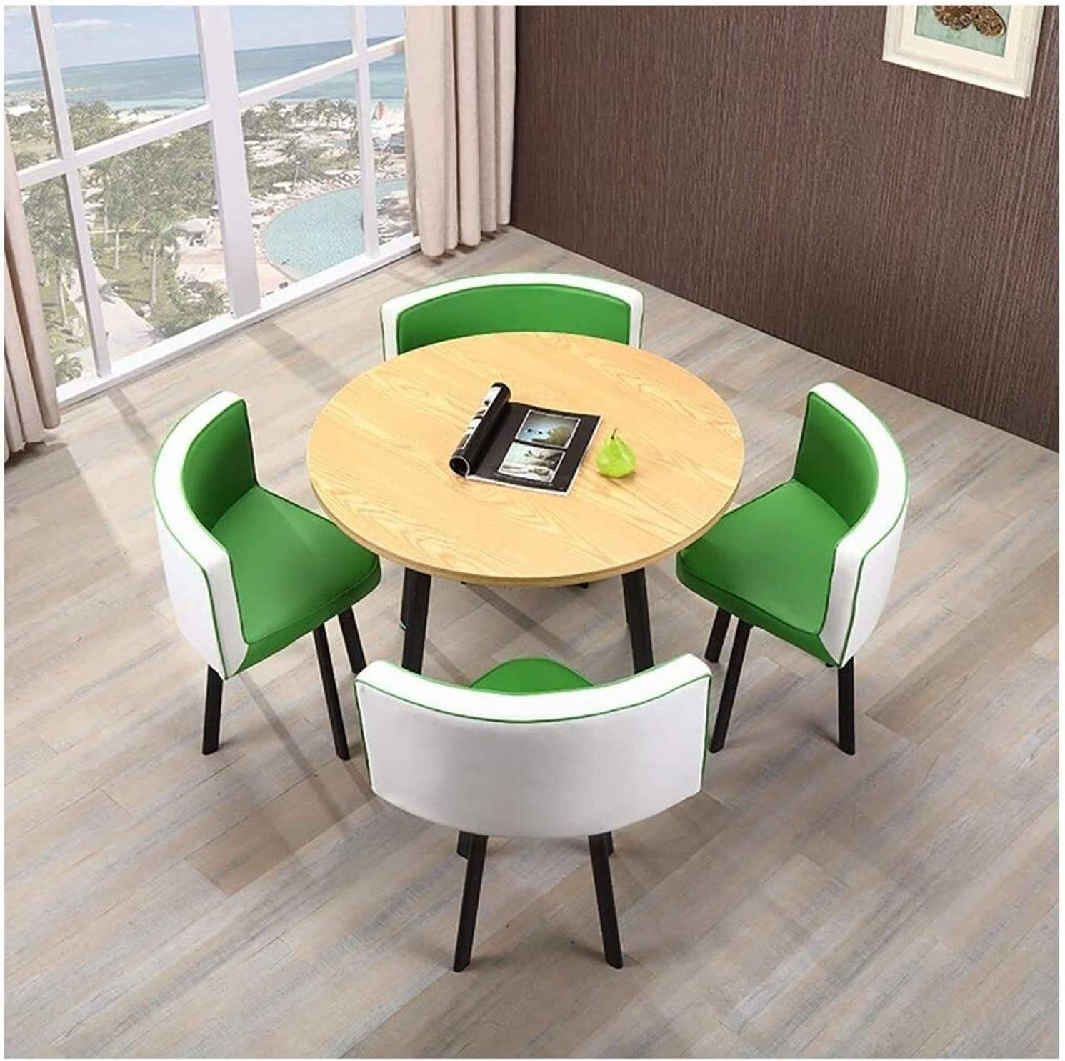 Round Dedication dining table and Memphis Mall chair set Table Recept Small Simple