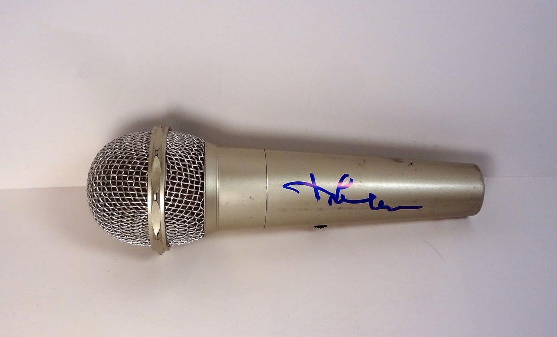 Jim Save money Lehrer PBS Signed Microphone Autograph COA 2021