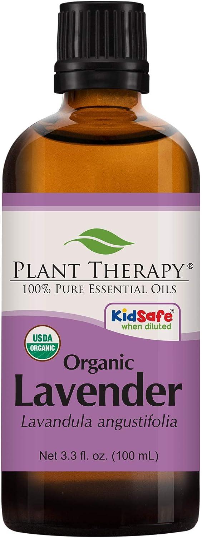 Plant Therapy Organic Lavender Essential Oil 100% Pure, USDA Cer