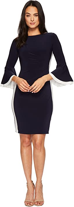 Efraine Two-Tone Matte Jersey Dress