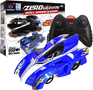 Wall Climbing Car, USB Rechargeable Remote Control Car Toys, Dual Mode Race Car for Floor or Wall, RC Cars 360°Rotating Stunt + LED Lights - Best Gift for Kids and Adults