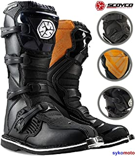 7baaeb4b Motocross Botas SCOYCO MBM001 Hombre Off Road Protector Enduro ATV Quad  Carreras Kart Zapatos Negro Exclusivo