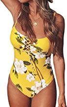 CUPSHE Women's Sunny Floral Print Lace One-Piece Swimsuit