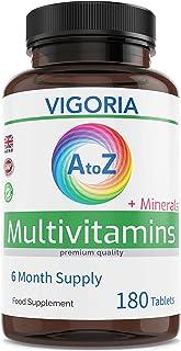 Multivitaminas con minerales y hierro - Fortalece el sistema inmunológico el corazón y el cerebro - Alivia el cansancio y la fatiga - aumenta el bienestar y la energía (180 veg comprimidos)