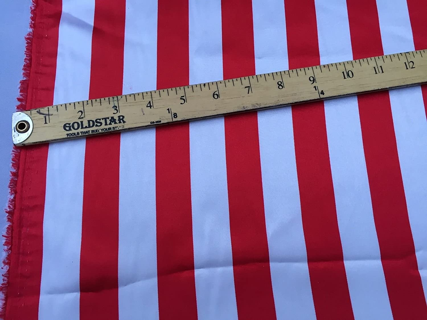 Be super welcome White red 1 inch Stripe Satin soft Fabric-crafts Charmeuse Silky Topics on TV