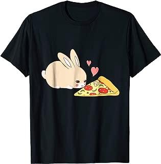 Cute Bunny Shirt: Kawaii Rabbit Pizza Hearts T-shirt