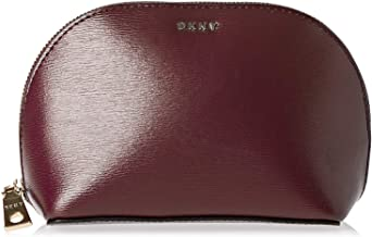 DKNY SLG Bryant Cosmetic Bag Blood Red, Pack of 1 (802892445361)