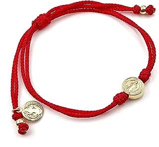 St Benedict Medal Red String Protection Bracelet for women