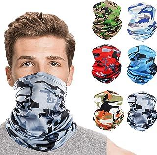 Cooling Neck Gaiter for Men UV Protection, Breathable Seamless Summer Bandana
