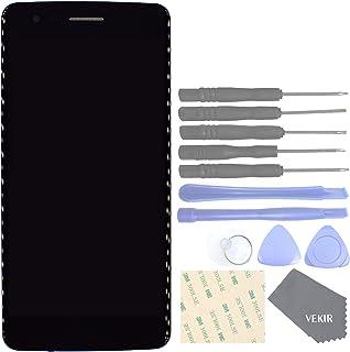 VEKIR LCD Touch Digitizer reemplazo de Pantalla de Vidrio con Marco para LG K8 (2017) US215 MS210 M200N (Negro)