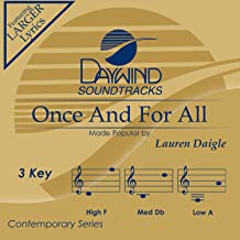 Once And For All Accompaniment/Performance Track