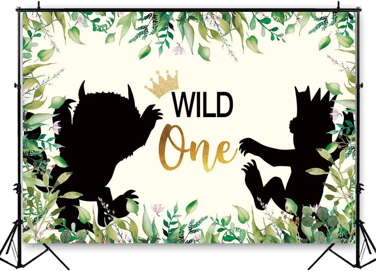 Funnytree 8x6ft Durable Fabric Wild 1st One Backd Party Birthday Online limited product Popular standard