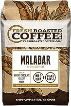 Fresh Roasted Coffee LLC, Indian Monsoon Malabar Coffee, Light Roast, Whole Bean, 2 Pound Bag