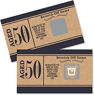 50th Milestone Birthday - Dashingly Aged to Perfection - Birthday Party Game Scratch Off Cards - 22 Count
