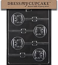 Dress My Cupcake Chocolate Candy Mold, Owl Lollipop