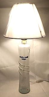 Lampada Bottiglia Vodka Roberto Cavalli riciclo creativo LED arredo riuso design idea regalo