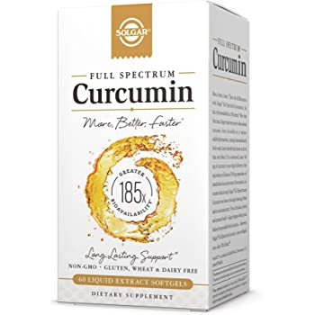 Solgar Full Spectrum Curcumin Liquid Extract, 60 Softgels - Faster Absorption - Brain, Joint & Immune Health - Long Lasting Support - Gluten Free, Non GMO, Dairy Free, Soy Free - 60 Servings