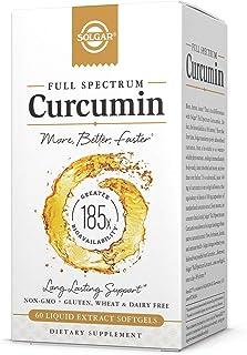Solgar Full Spectrum Curcumin Liquid Extract, 60 Softgels - Faster Absorption - Brain, Joint & Immune Health - Long Lastin...