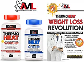 Advanced Molecular Labs Thermo Heat Daytime 120 Caps & Nighttime 60 Caps Fat Burner - Boost Your Bodys Metabolism - Combo with Free Thermo Heat Book The Fat-Incinerating Power of Brown Fat