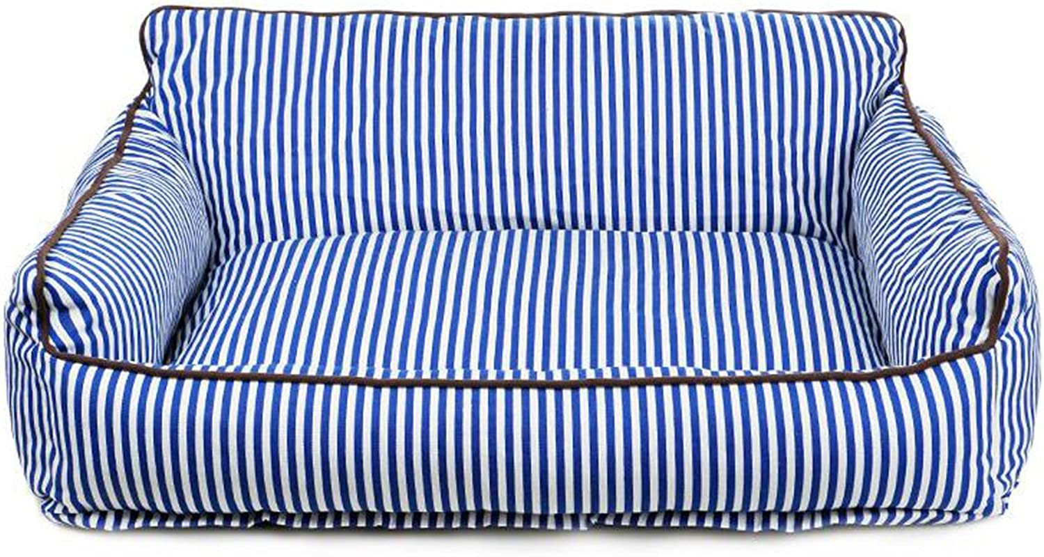 Pet Bed Teddy Large Dog Cushion Comfortable Warm Four Seasons are Available Washable Kennel,blueeM