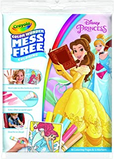 Crayola Color Wonder Disney Princess Coloring Book Pages & Markers, Multi-Colour, CY75-7003