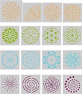 Angshop - Plantillas de pintura para mandala, diseño de lunares, 16 unidades
