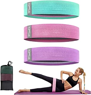 Resistance Bands for Legs and Butt Set Exercise Bands Fabric Workout Bands Non Slip Booty Bands Elastic Fitness Band Resis...