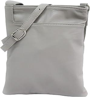 AmbraModa NL611 - Borsa a tracolla donna Piccola borsa italiana realizzata in morbida vera pella SAUVAGE
