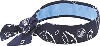 Cooling Bandana, Navy Western, Lined with Evaporative PVA Material for Fast Cooling..