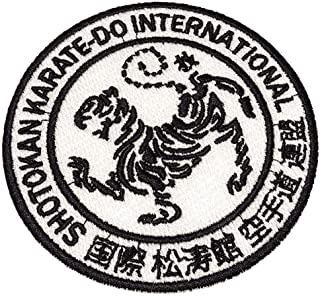 ATM090T Karate 100% Embroidered Patch Iron or Sew Kimono 3.74 × 3.74 in.