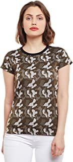 VIMAL JONNEY Camouflage/Army Tops for Women-LT_ARM-P