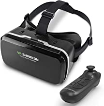 DLseego VR Headset Compatible with iPhone & Android Phone, Remote Controller 3D Glasses Goggles HD Virtual Reality Headset...