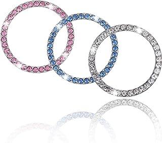 Sponsored Ad - 6 PCS Crystal Rhinestone Car Bling Ring Emblem Sticker, Push to Start Button, Key Ignition Starter & Knob R...