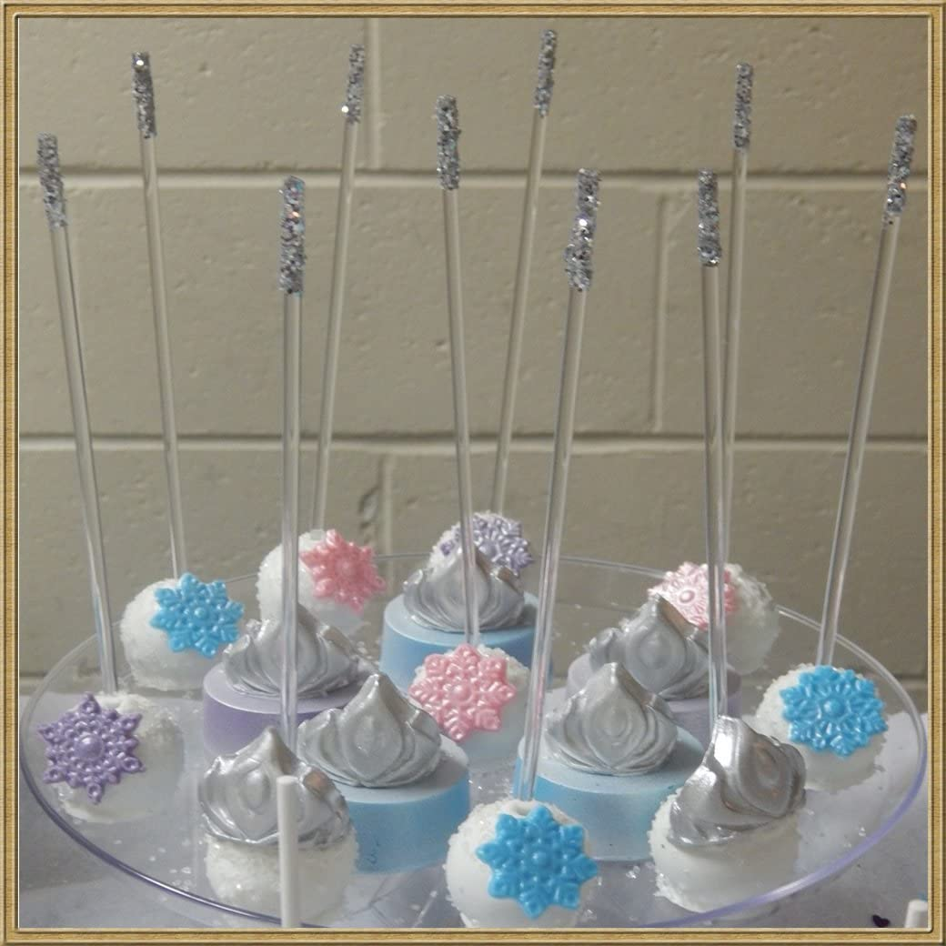 Weststone 50pcs Colorful Acrylic swirl sticks for cake pop or lollipop candy by Weststone Black