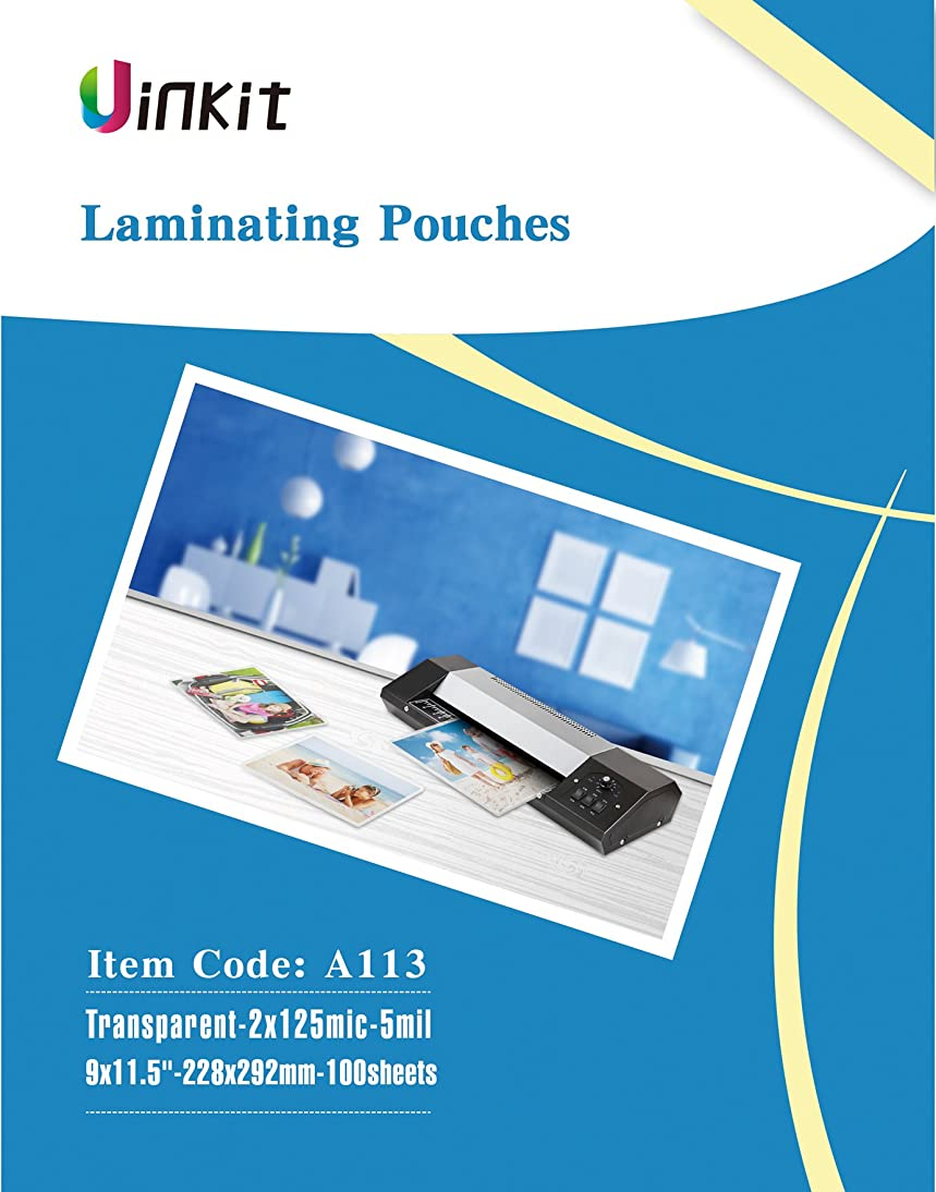 Hot Thermal Laminating Pouches 5Mil - 9x11.5 Inches for sealed 8.5x11