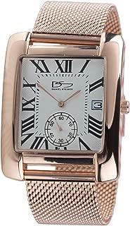 Daniel Steiger Vintage Estate Rose Gold Men's Watch - Premium Grade Solid Stainless Steel - Exquisite Rose Gold Finish - Classic Roman Numeral Design - Comfortable Mesh Band