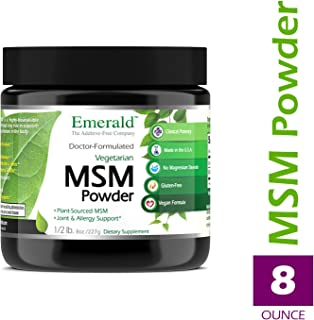 MSM Powder 4,000 mg - Joint Support for Aches & Pains, Anti-Inflammatory, Stress Relief, Digestive System, Promotes Healthy Hair, Skin, and Nails - Emerald Labs (Ultra Botanicals) - 8 oz