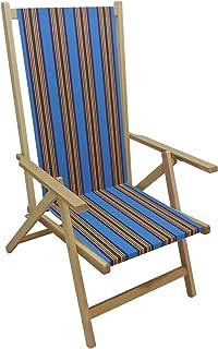 Sedia sdraio pieghevole prendisole in legno di faggio chiaro