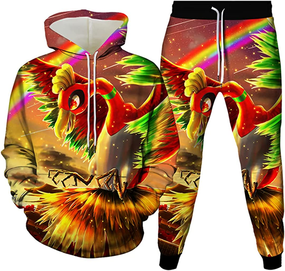 Animal Bird Parrot Eagle Owl Print Phoenix Special Recommendation sale item Tracksuit Cartoon Hoo